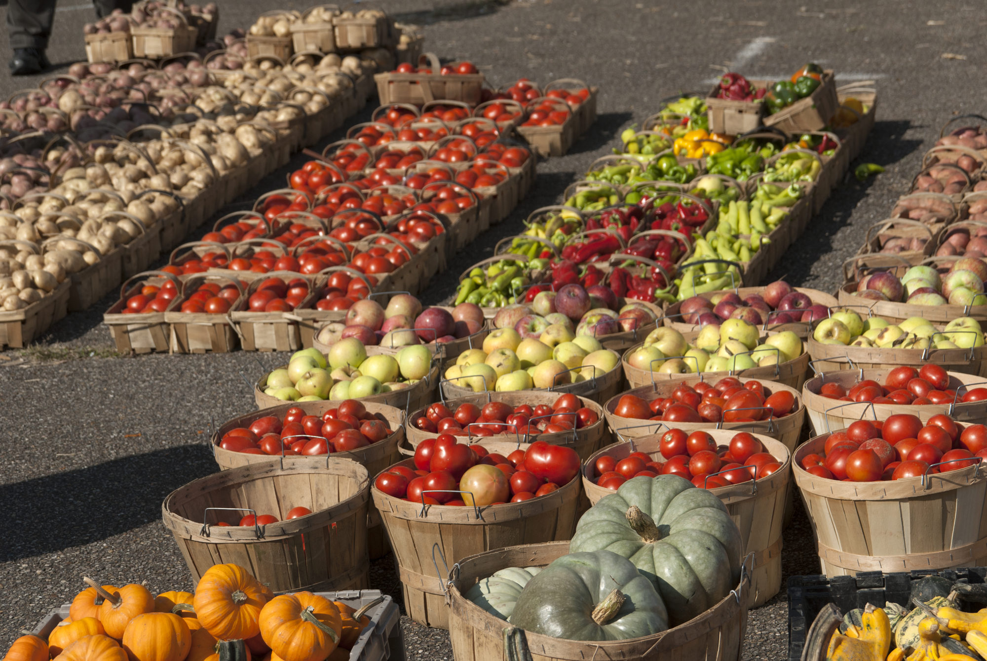 Produce at a local farmers market