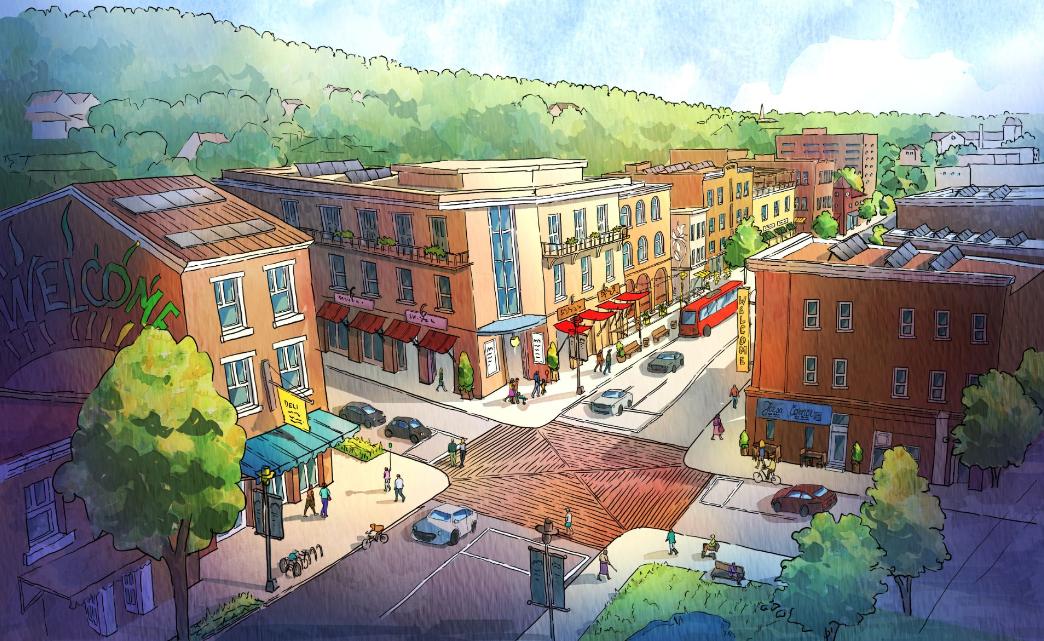 Artist Rendering of Intersection Improvements